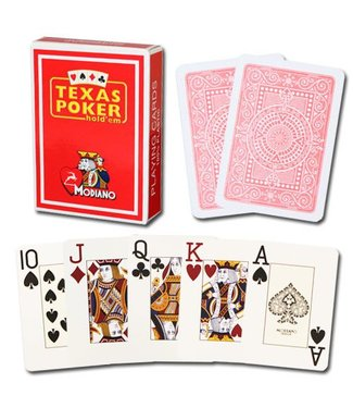 Modiano Texas Poker Jumbo, Red by Modiano