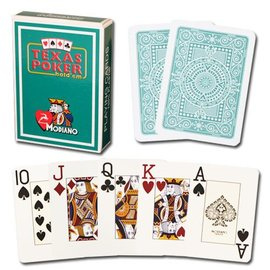Modiano Texas Poker Jumbo, Dark Green by Modiano