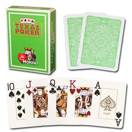 Modiano Texas Poker Jumbo, Light Green by Modiano