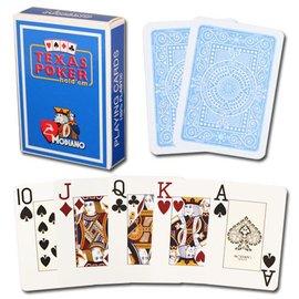 Modiano Texas Poker Jumbo, Light Blue by Modiano