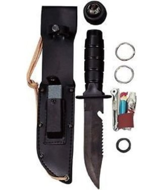 Survival Kit Knife - Black by Rothco (M5)