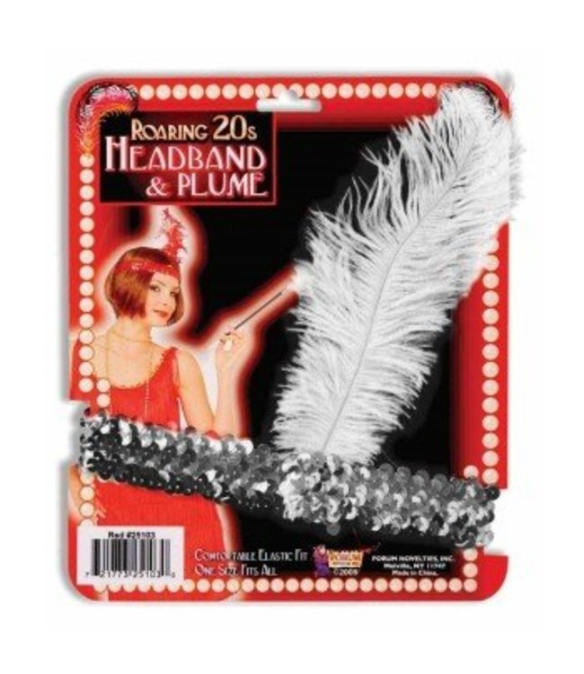 Forum Novelties Roaring 20s Headband Silver