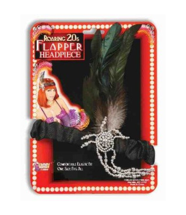 Forum Novelties Charleston Flapper Head Piece Black