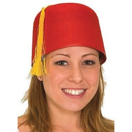 Fez Hat, Red - One Size
