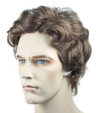 Morris Costumes and Lacey Fashions Wavy Men's - Brown Wig