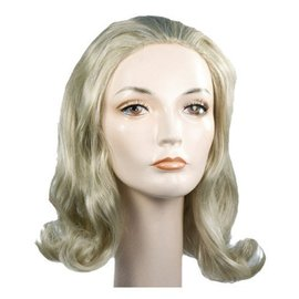 Morris Costumes and Lacey Fashions 1960s Prom Pageboy C Blonde Wig