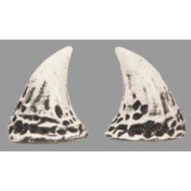 Pans House Of Horns Puck Horns - White/Black (C2)