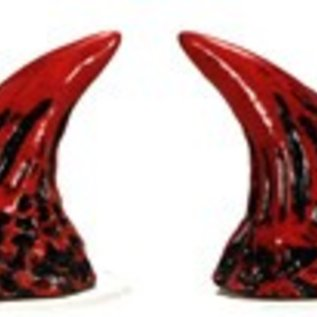 Pans House Of Horns Wicked Devil Horns - Red w/Black  (C2)