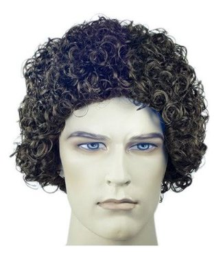 Morris Costumes and Lacey Fashions Curly Style 100, Brown - Wig
