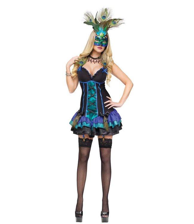 Fun World Midnight Peacock Adult Medium 10-12