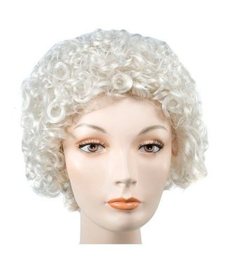 Morris Costumes and Lacey Fashions Style 100 Curly Grey Wig