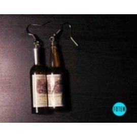 Wine Bottle Earrings (assorted colors)