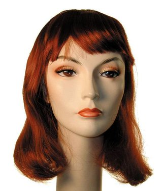Morris Costumes and Lacey Fashions Courtney Pageboy Auburn 130 Wig