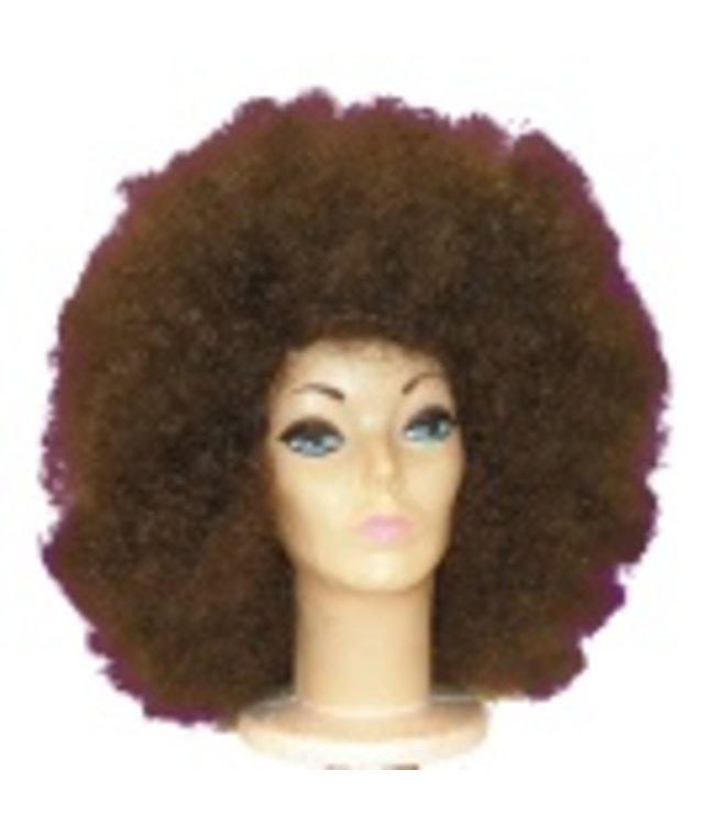 Morris Costumes and Lacey Fashions Jumbo Afro, Brown - Wig
