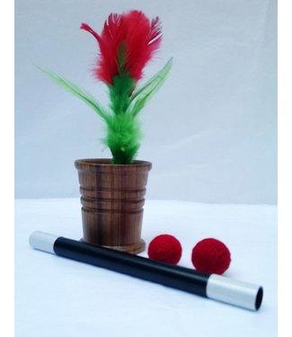 Chop Cup - Wood, w/Flower by Sunil Batra