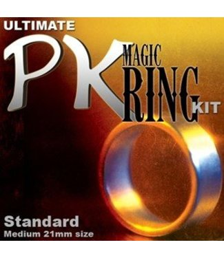 The Ultimate PK Ring 21MM, Silver - Magic Kit by Magic Makers (M10)