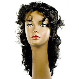 Morris Costumes and Lacey Fashions Wavy Showgirl Black Wig