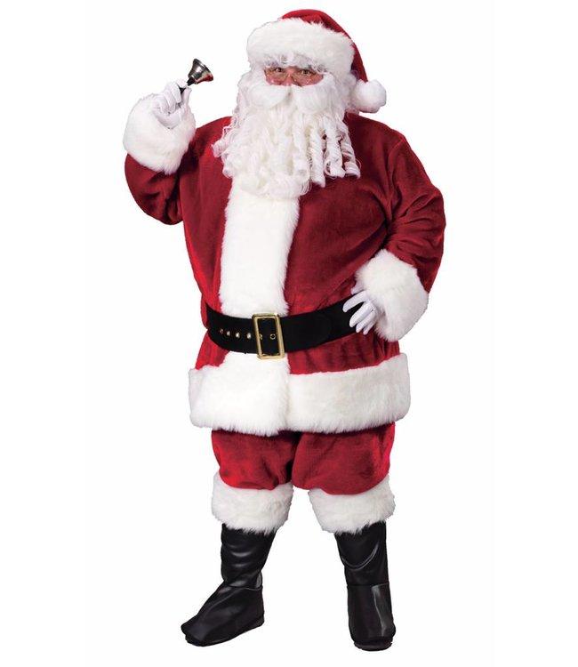 Fun World Crimson Plush Santa Suit - Plus 50-54