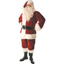 Triple Velvet Lined Santa Suit - Std 42-46
