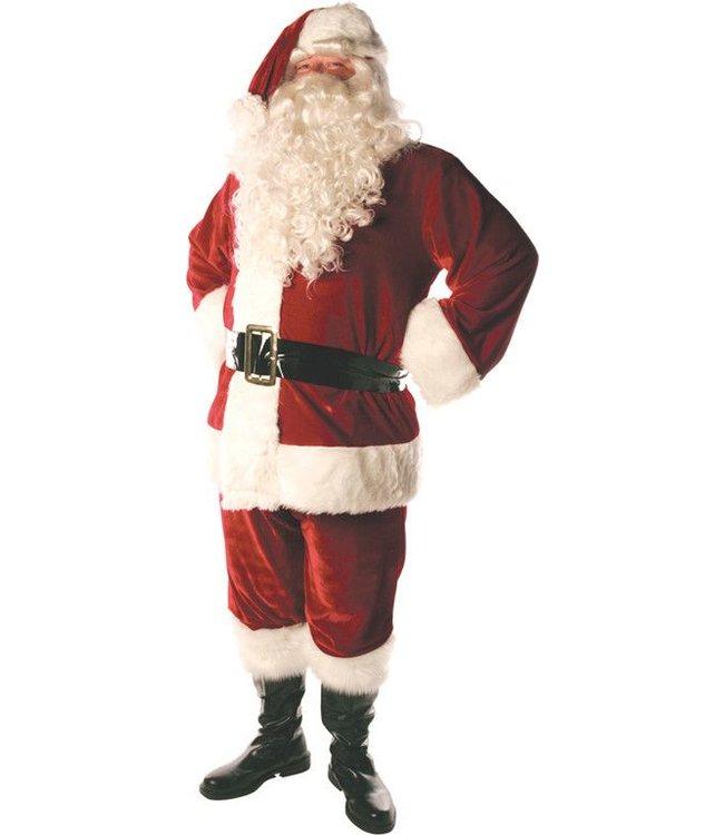 Triple Velvet Lined Santa Suit - Std 42-46