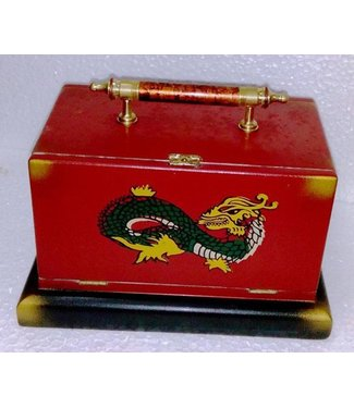 Large Silk Cabby With Handle - Dragon Design