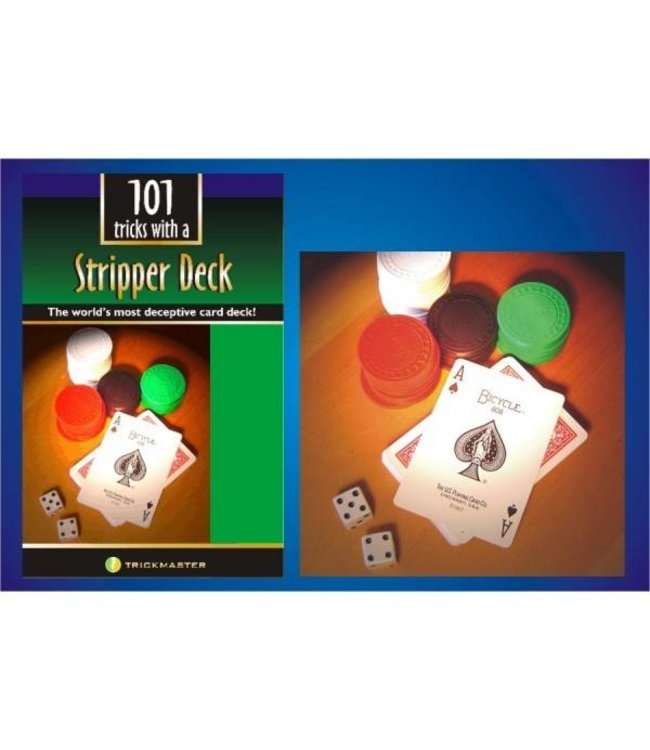 Stripper Deck w/Book Kit - Bicycle Poker by Trickmaster Magic