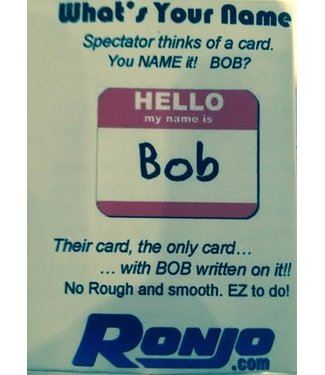 Ronjo Hello My Name Is Bob (/1014)
