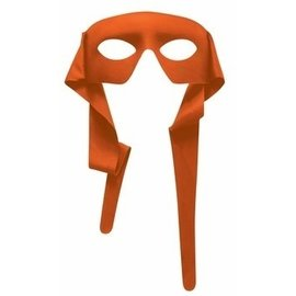 Forum Novelties Eye Mask - Masked Man w/Ties Orange