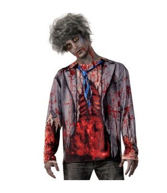Forum Novelties Zombie Man Shirt - Adult  Size 42