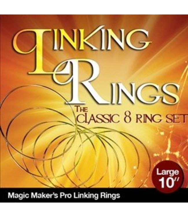 Linking Rings Large 10 inch Set of 8 Rings with DVD by Magic Makers
