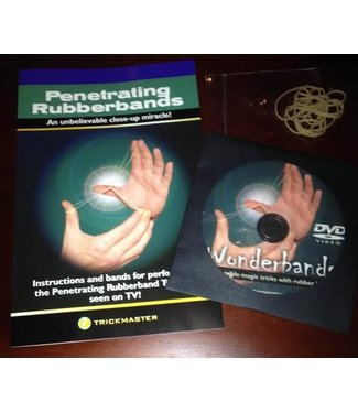 Penetrating Rubberbands AKA Wonderbands DVD Booklet Combo by Trickmaster Magic