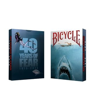 Bicycle 40 Years of Fear Jaws Playing Cards by Crooked Kings