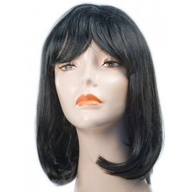Morris Costumes Courtney Pageboy Black Wig