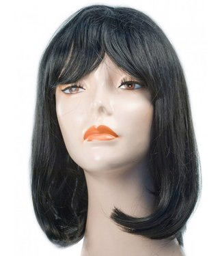 Morris Costumes and Lacey Fashions Courtney Pageboy Black Wig