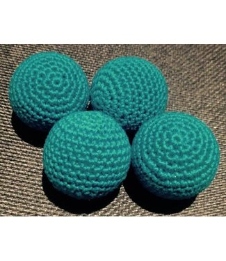 Ronjo Crocheted Balls 4 pk, 1 inch - Turquoise, Wood (M8)