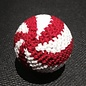 Ronjo Load Ball, 1 1/2 inch Wood - Red/White Swirl  (M8)