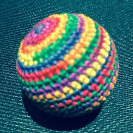 Ronjo Load Ball, 1 1/4 inch Wood - Rainbow (M8)