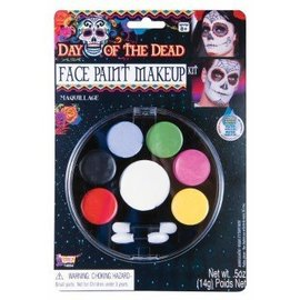 Forum Novelties Face Paint Make-Up Kit - Day Of The Dead