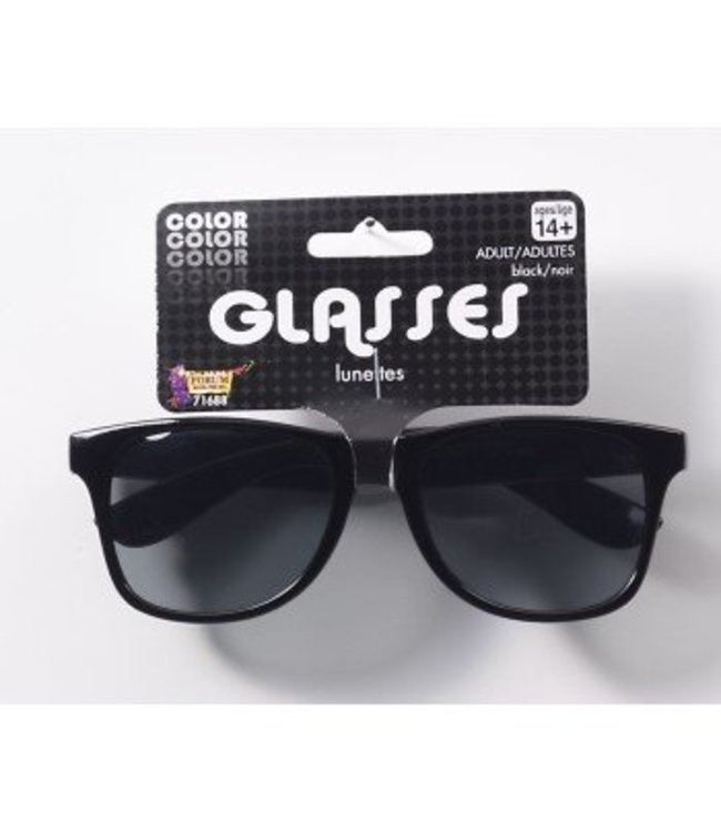 Forum Novelties Black Frame Sunglasses