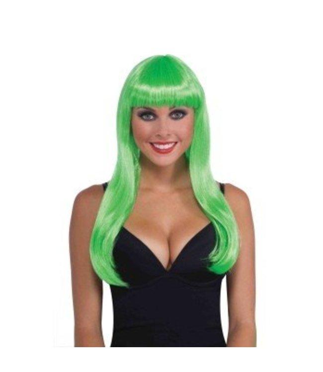 Forum Novelties Long Green Wig, Bangs