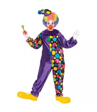 Forum Novelties Purple Polka Dot Clown Standard 42