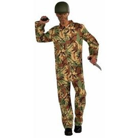 Forum Novelties Army Jumpsuit, Camo Size 42