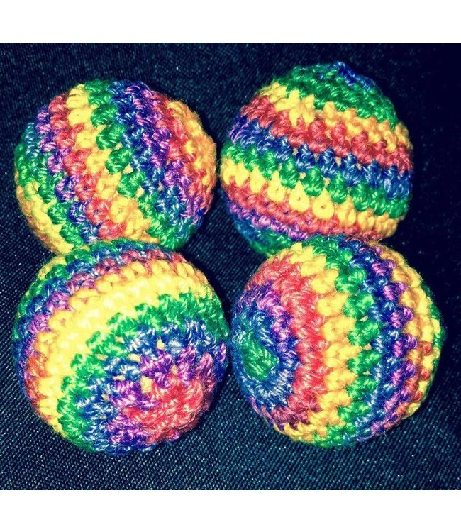 Ronjo Crocheted Balls Acrylic 4 pk, 3/4 inch - Rainbow (M8)