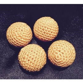 Ronjo Crocheted Balls Acrylic 4 pk, 3/4 inch - Golden Yellow (M8)