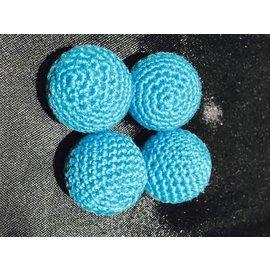 Ronjo Crocheted Balls Acrylic 4 pk, 3/4 inch - Light Blue (M8)