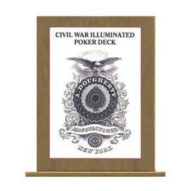 Civil War Illuminated Poker Deck - Card