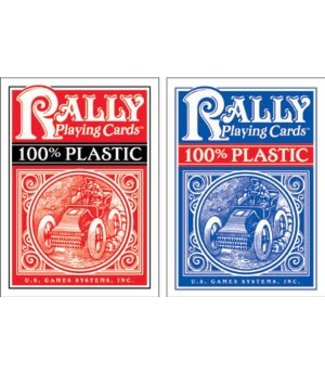 Rally Plastic Playing Cards, Red by U.S. Games