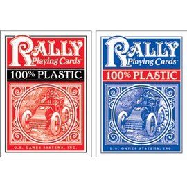 Rally Plastic Playing Cards, Blue by U.S. Games