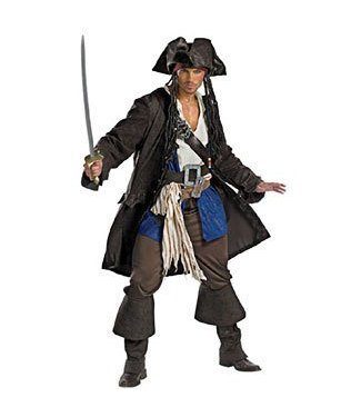 Disguise Captain Jack Sparrow, Prestige - Adult XXL 50-52