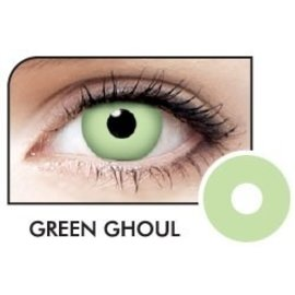 Fine And Clear Green Ghoul Contact Lenses